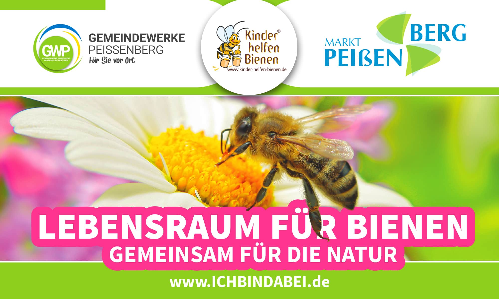 Werbeschild - Lebensraum für Bienen schaffen