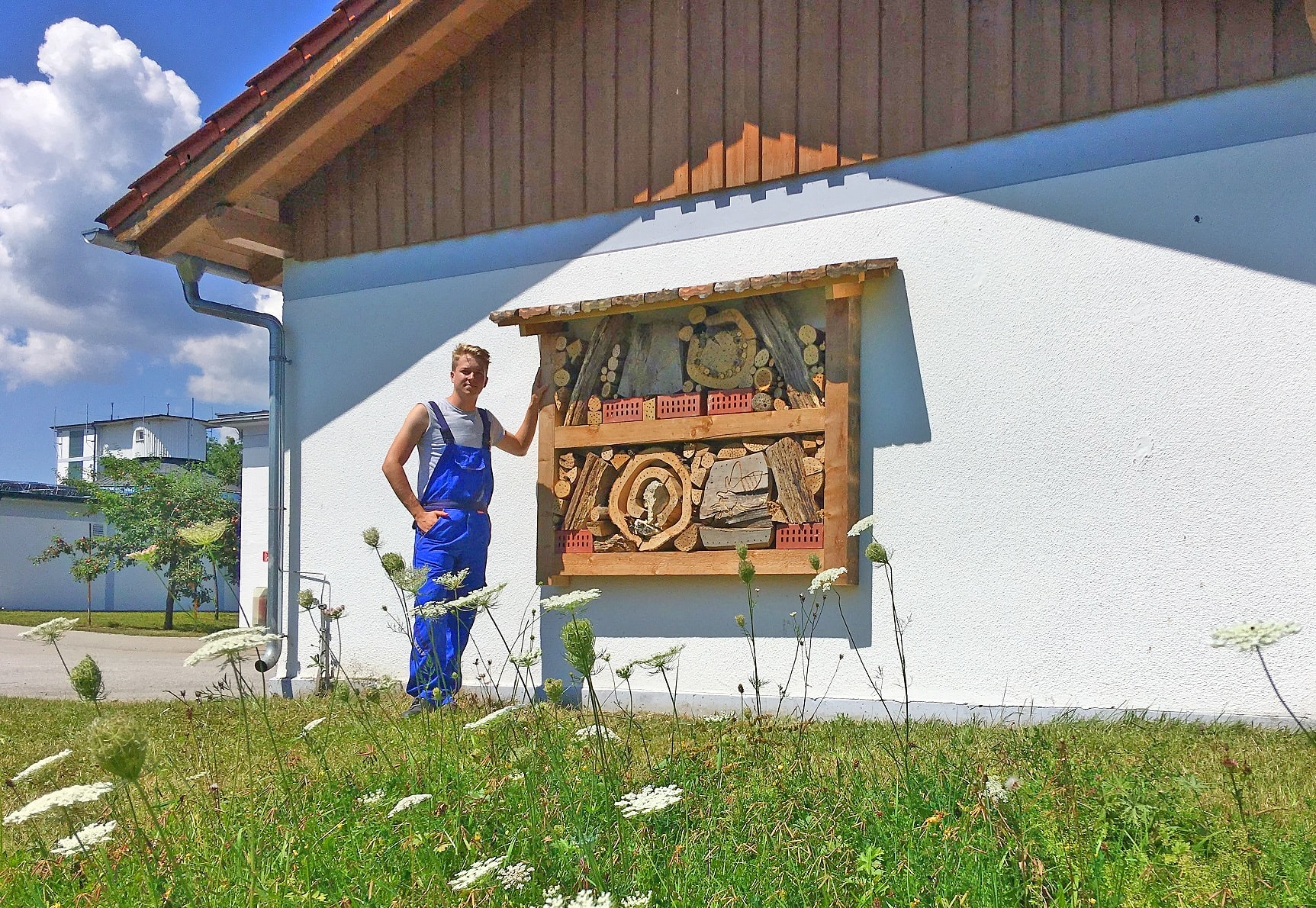 Insektenhotel in der Kläranlage Peißenberg